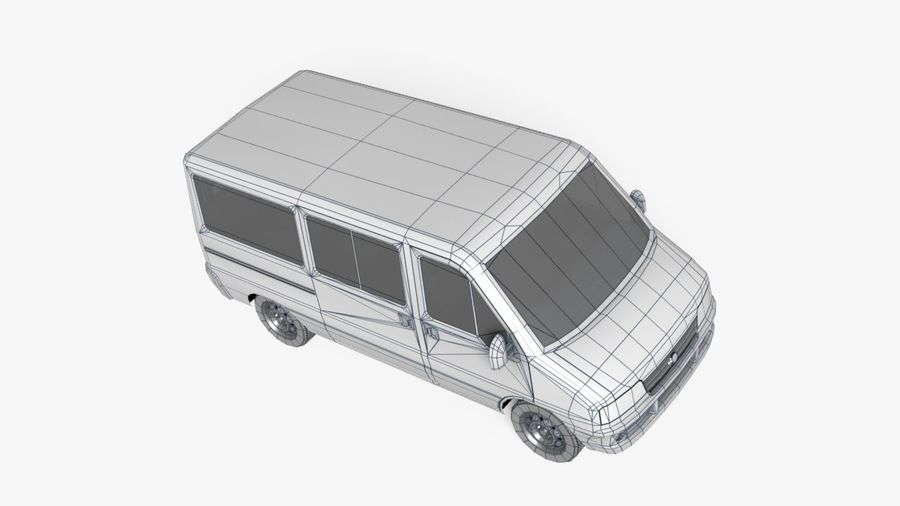 fiat ducato royalty-free 3d model - Preview no. 4
