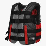 Life Vest Red 3d model