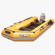 Opblaasbare motor Boot Oranje Storm 3d model