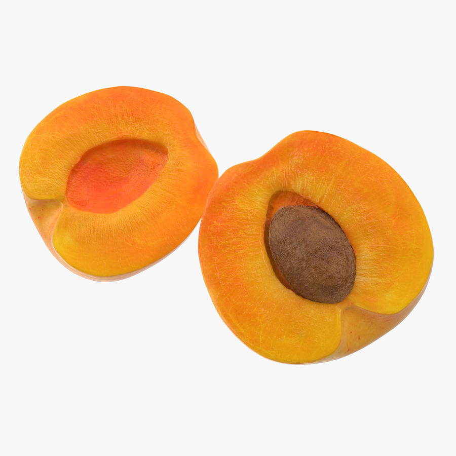 Apricot Cross Section 01 royalty-free 3d model - Preview no. 1