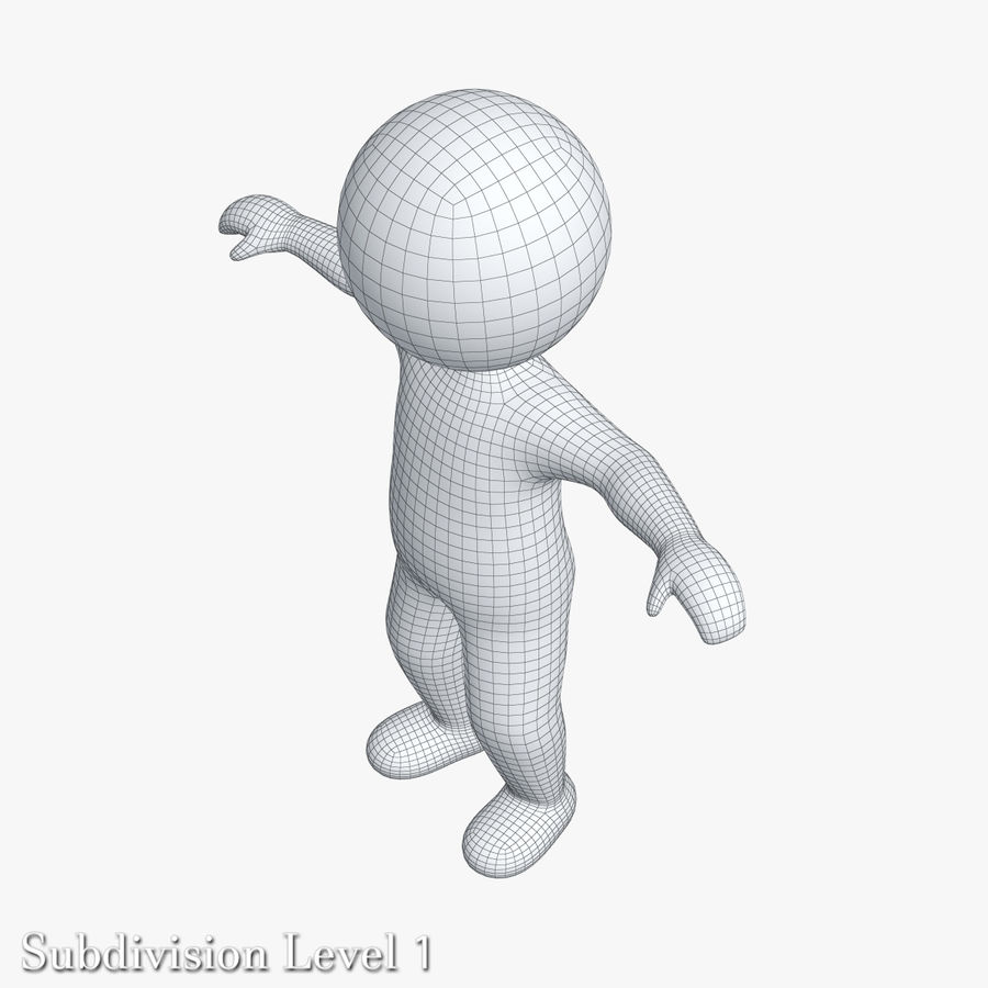 Stickman 1 T-Pose royalty-free 3d model - Preview no. 16