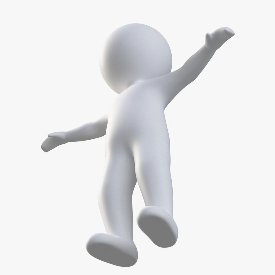 Stickman 1 T-Pose royalty-free 3d model - Preview no. 3