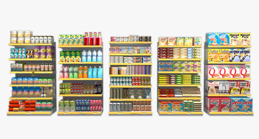 Supermaket Shelves 3D Model $49 -  obj  fbx  max - Free3D