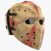 Masque de hockey effrayant 3d model