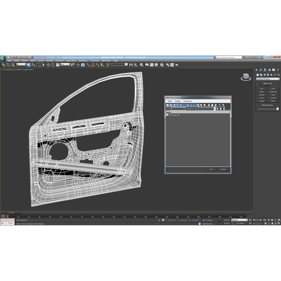 Quadro de porta do carro royalty-free 3d model - Preview no. 19