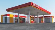Gas station scene(2) 3d model