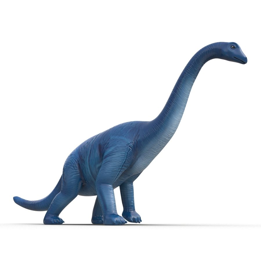 Dinosaur Toy Brachiosaurus royalty-free 3d model - Preview no. 12