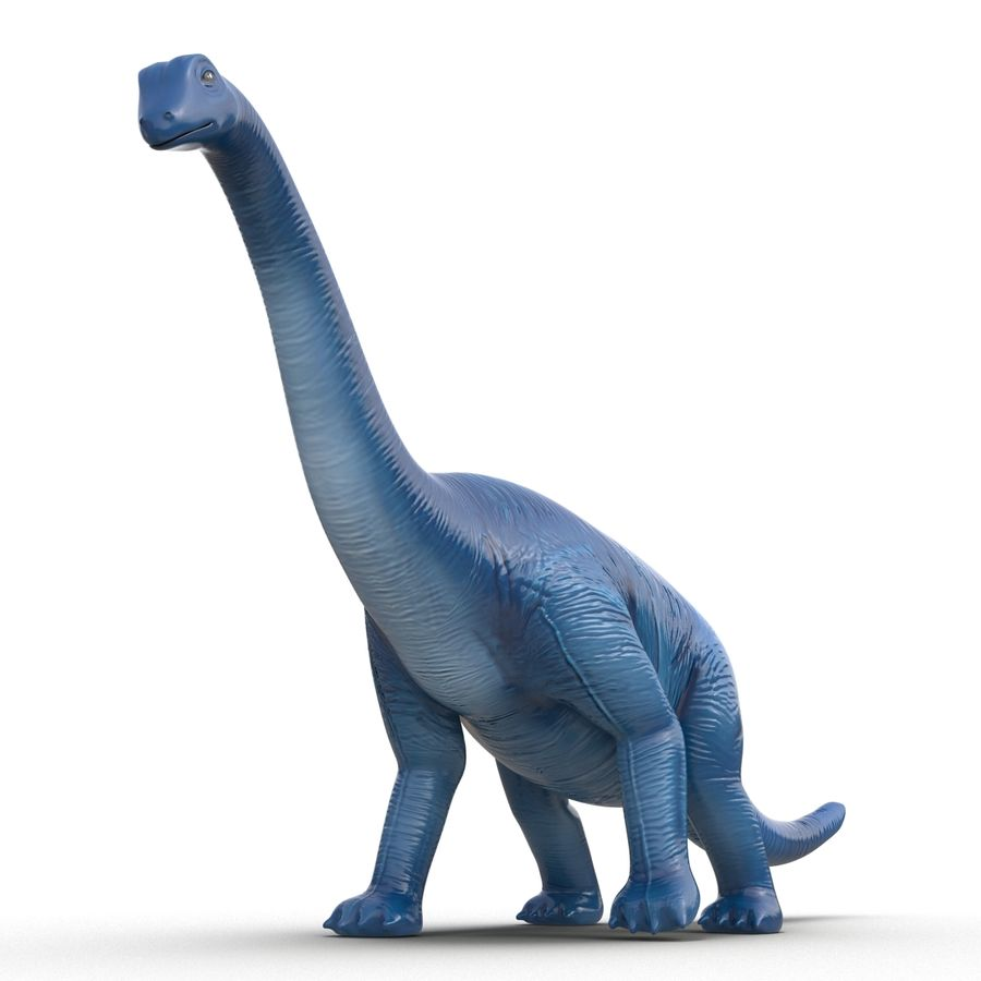 Dinosaur Toy Brachiosaurus royalty-free 3d model - Preview no. 11