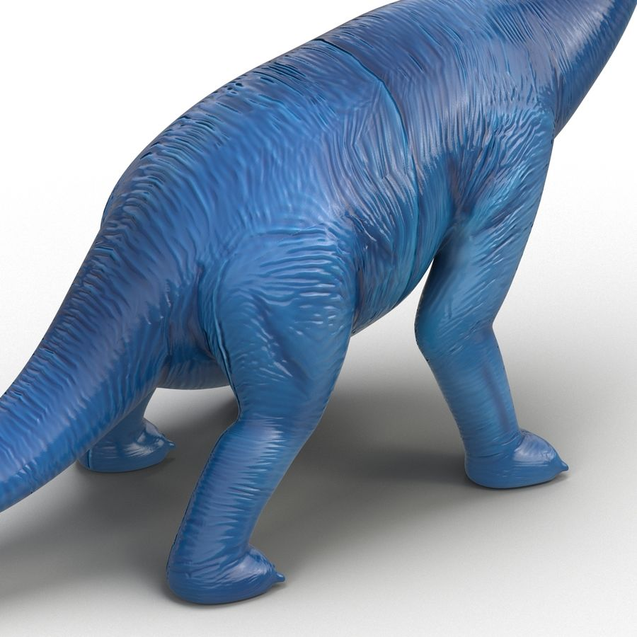 Dinosaur Toy Brachiosaurus royalty-free 3d model - Preview no. 17