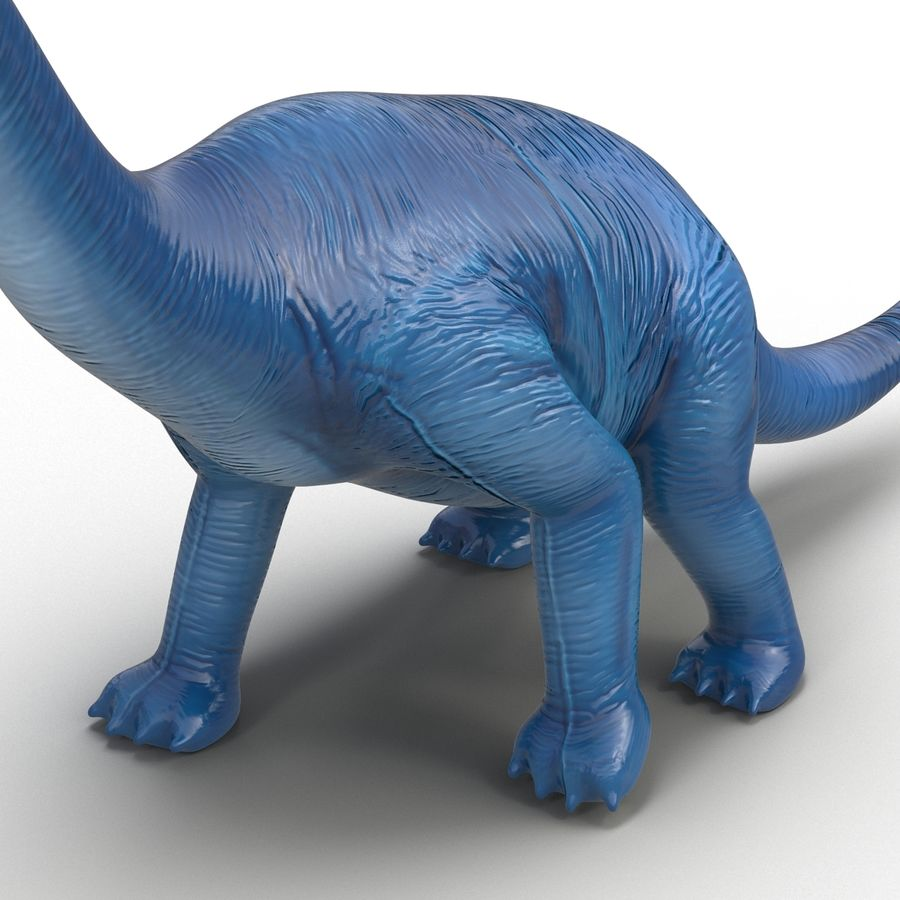 Dinosaur Toy Brachiosaurus royalty-free 3d model - Preview no. 16