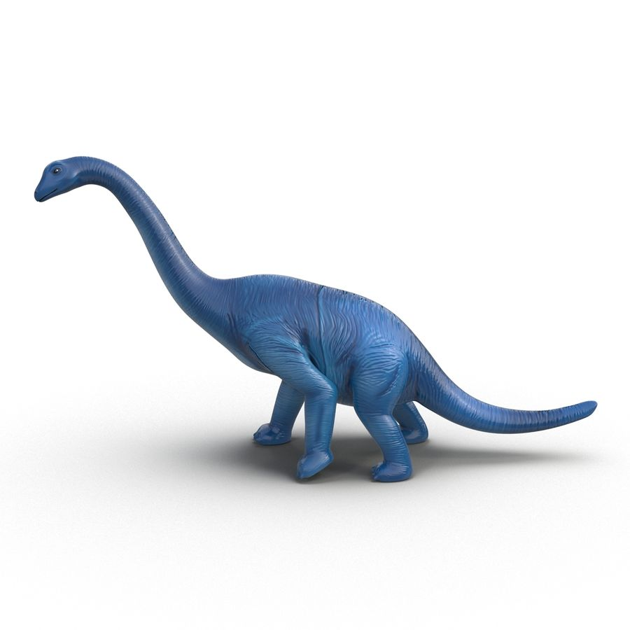 Dinosaur Toy Brachiosaurus royalty-free 3d model - Preview no. 3