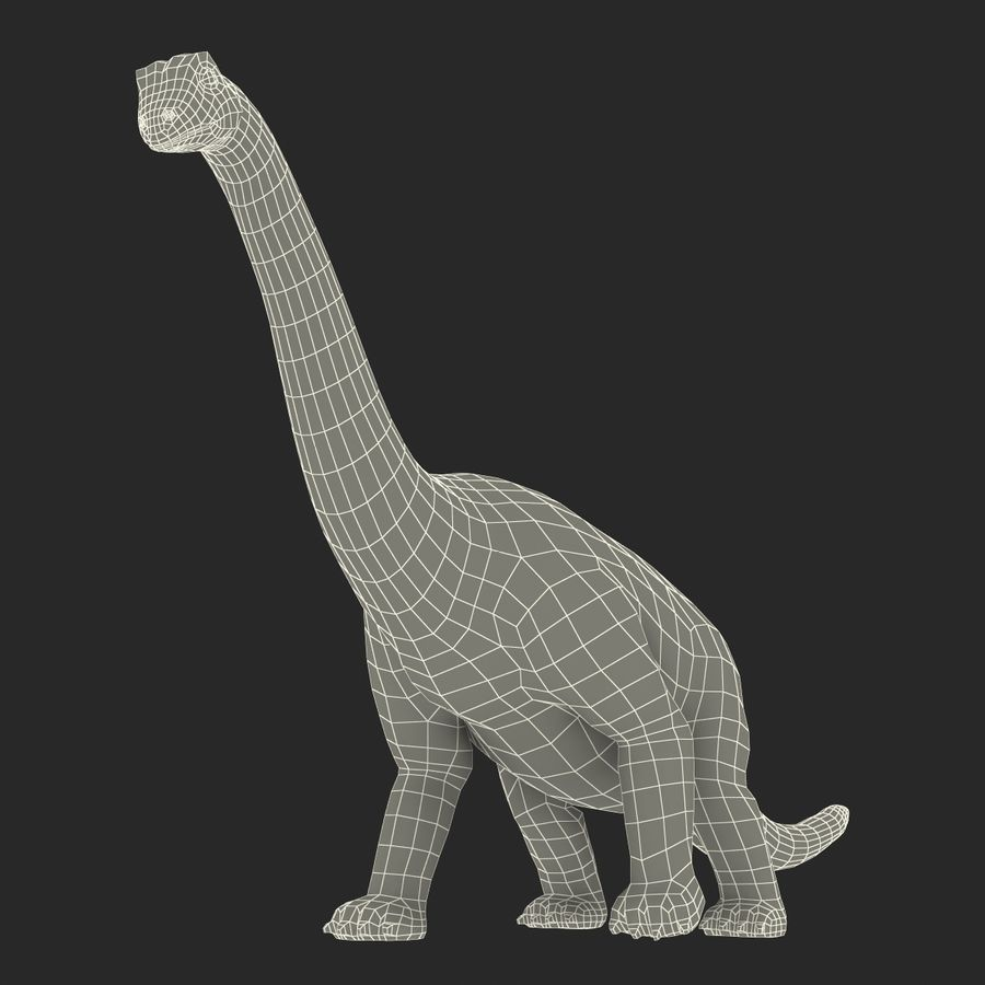 Dinosaur Toy Brachiosaurus royalty-free 3d model - Preview no. 28