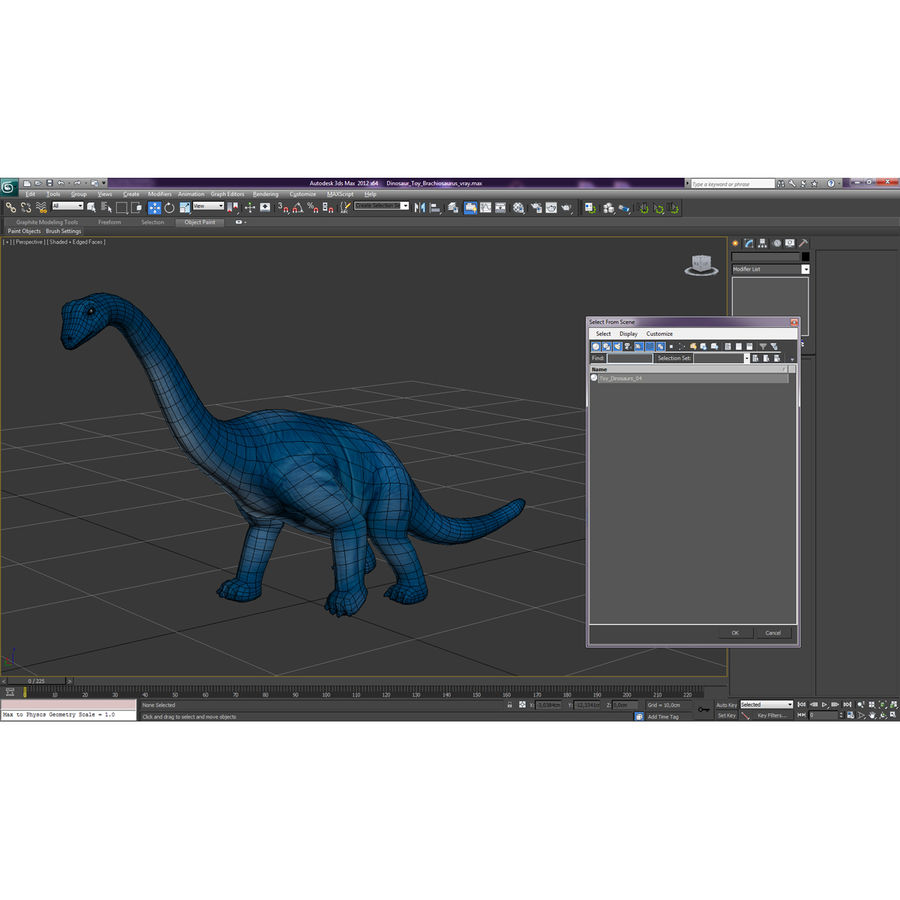 Dinosaur Toy Brachiosaurus royalty-free 3d model - Preview no. 23