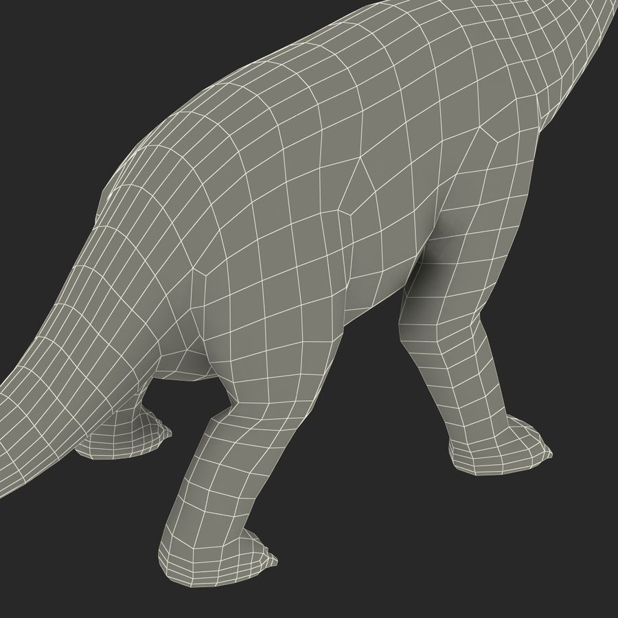 Dinosaur Toy Brachiosaurus royalty-free 3d model - Preview no. 31