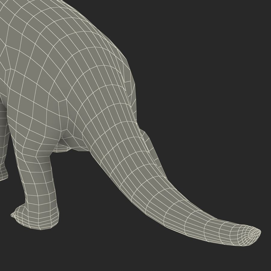 Dinosaur Toy Brachiosaurus royalty-free 3d model - Preview no. 32