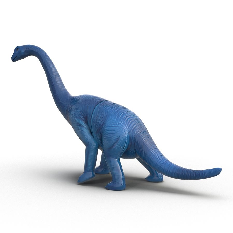 Dinosaur Toy Brachiosaurus royalty-free 3d model - Preview no. 7