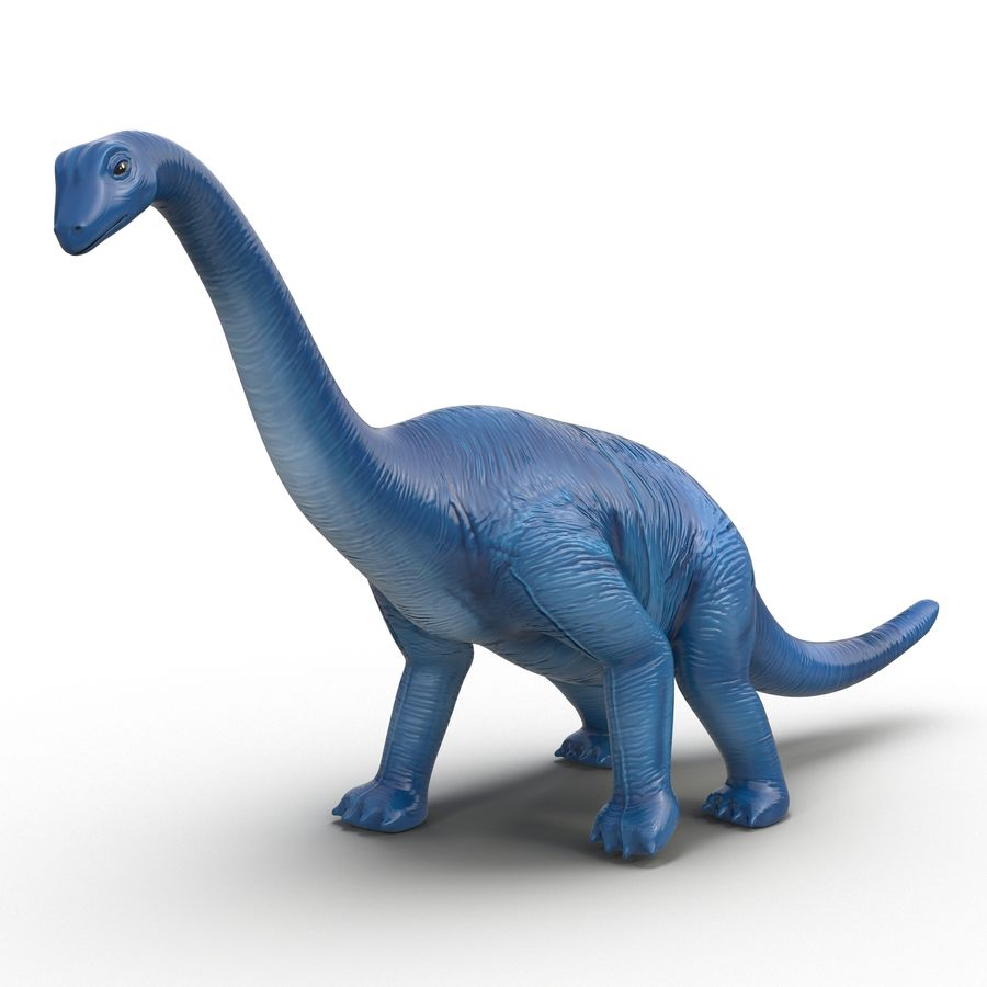 Dinosaur Toy Brachiosaurus royalty-free 3d model - Preview no. 2