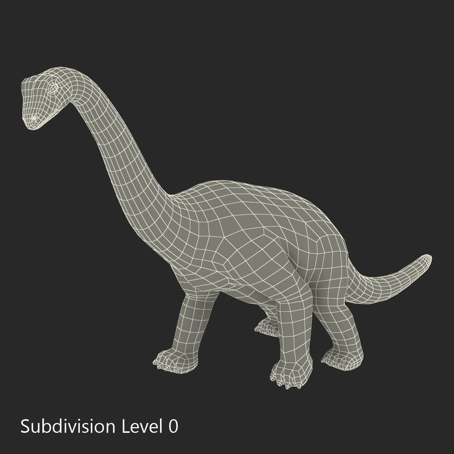 Dinosaur Toy Brachiosaurus royalty-free 3d model - Preview no. 19