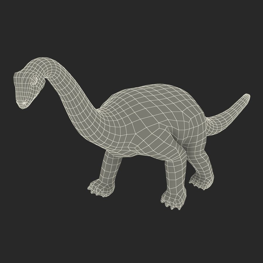 Dinosaur Toy Brachiosaurus royalty-free 3d model - Preview no. 26