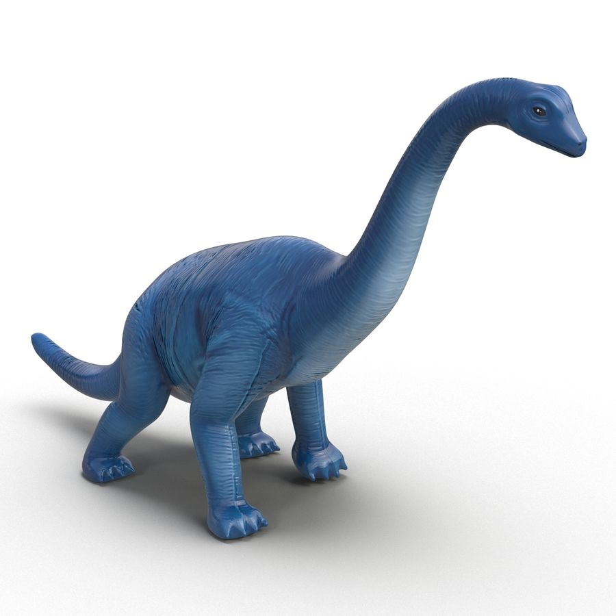 Dinosaur Toy Brachiosaurus royalty-free 3d model - Preview no. 4