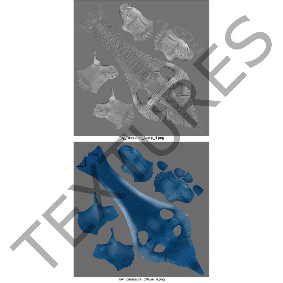 Dinosaur Toy Brachiosaurus royalty-free 3d model - Preview no. 22