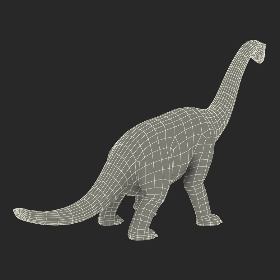 Dinosaur Toy Brachiosaurus royalty-free 3d model - Preview no. 25