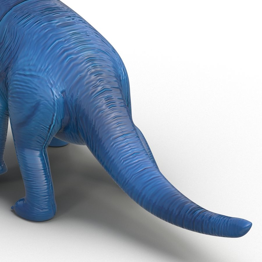 Dinosaur Toy Brachiosaurus royalty-free 3d model - Preview no. 18