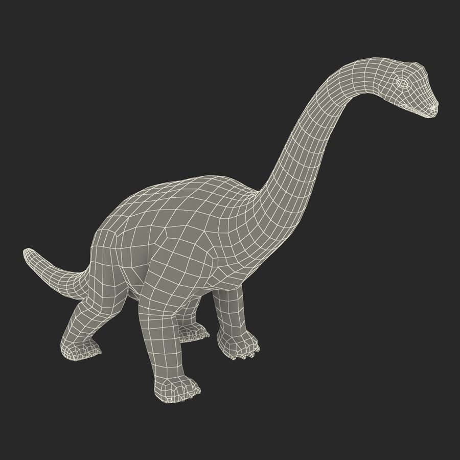 Dinosaur Toy Brachiosaurus royalty-free 3d model - Preview no. 24
