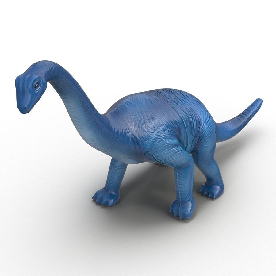 Dinosaur Toy Brachiosaurus royalty-free 3d model - Preview no. 8