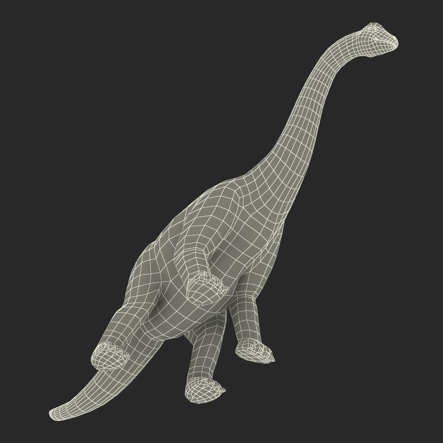 Dinosaur Toy Brachiosaurus royalty-free 3d model - Preview no. 27