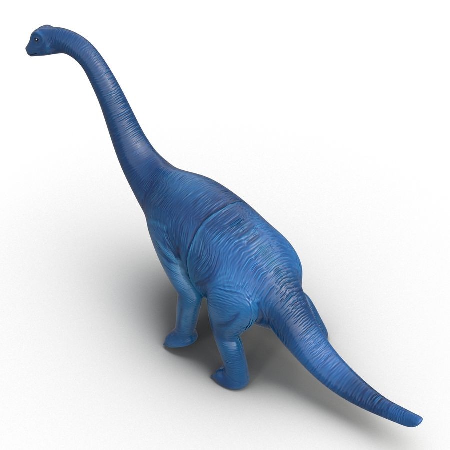 Dinosaur Toy Brachiosaurus royalty-free 3d model - Preview no. 10