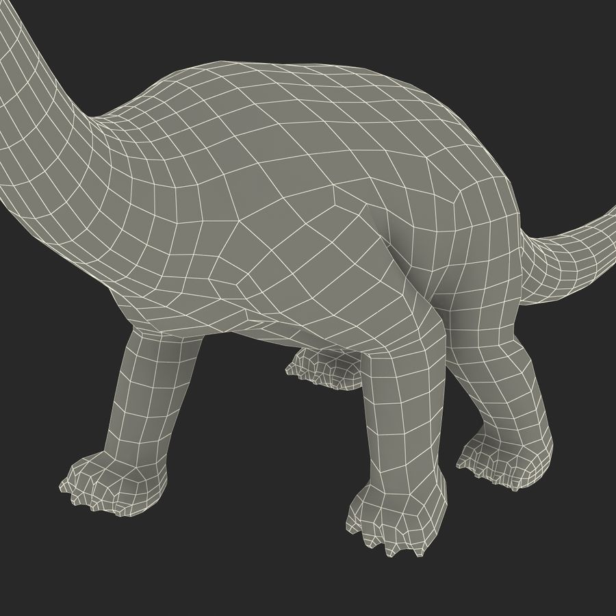 Dinosaur Toy Brachiosaurus royalty-free 3d model - Preview no. 30