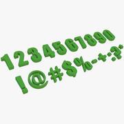 Zahlen und Symbole 3d model