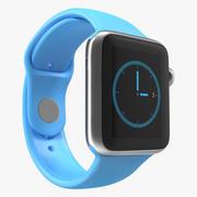 Apple Watch 38mm Fluoroelastomer Blue Sport Band 2 3d model