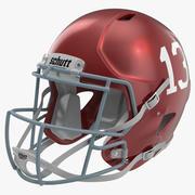 Capacete de Futebol 3 Schutt Vermelho 3d model