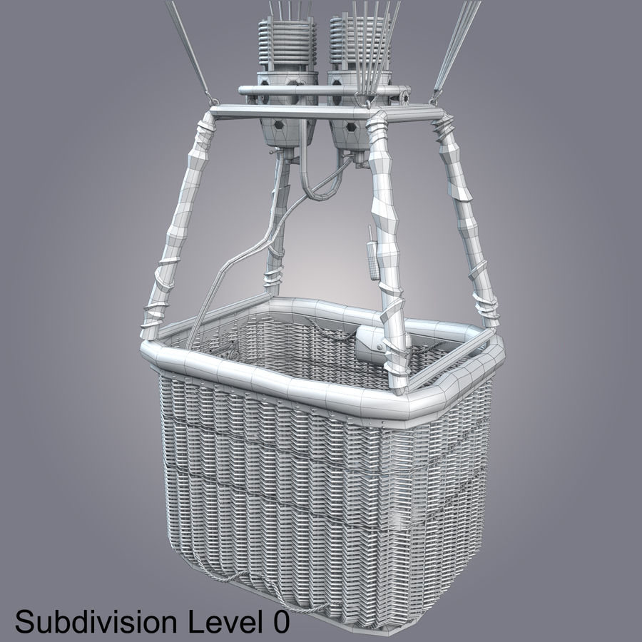 Luchtballon royalty-free 3d model - Preview no. 19