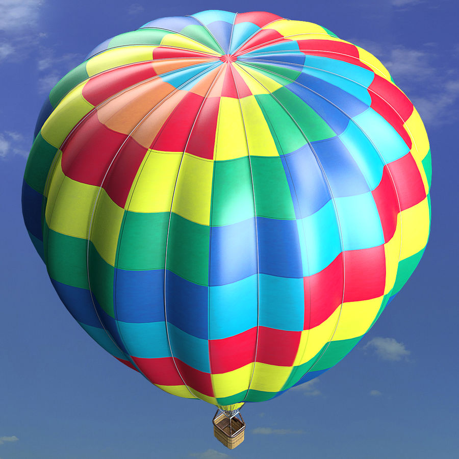 Luchtballon royalty-free 3d model - Preview no. 18