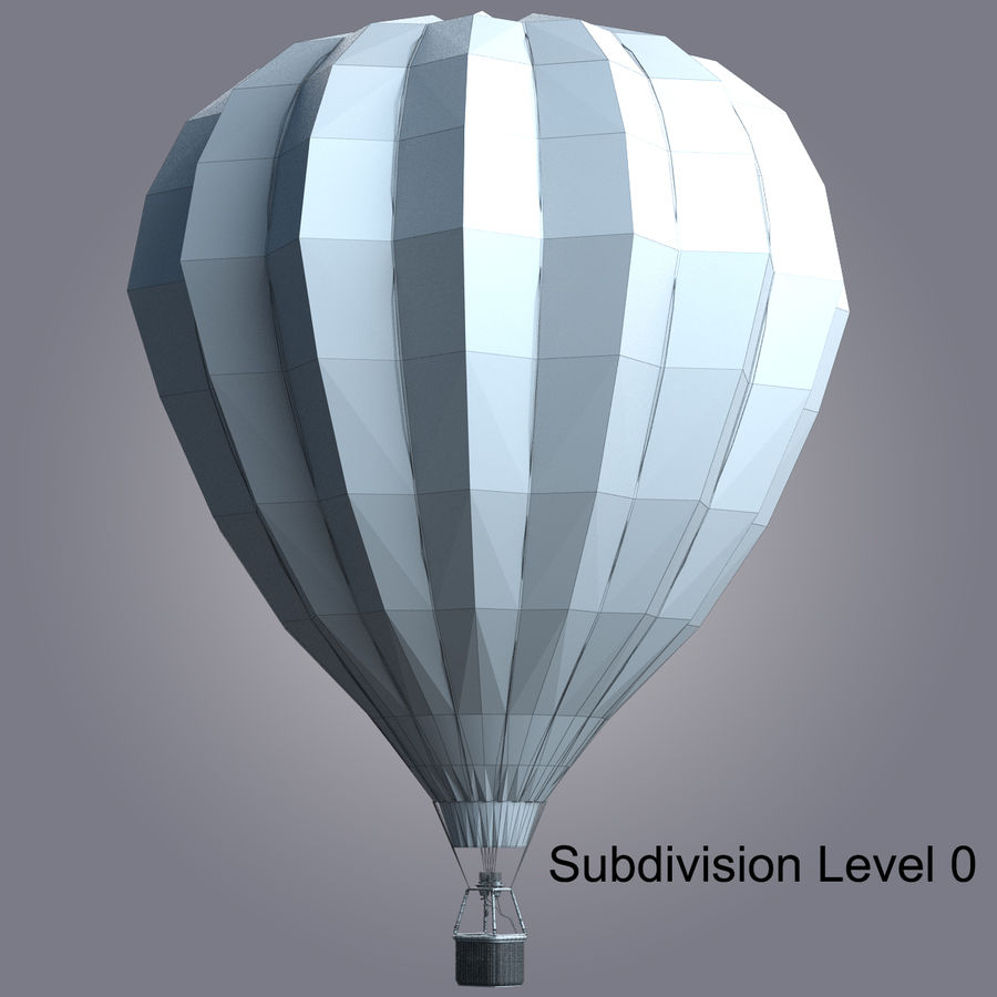 Luchtballon royalty-free 3d model - Preview no. 7