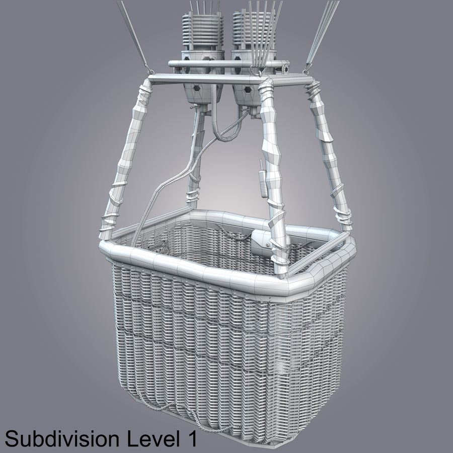 Luchtballon royalty-free 3d model - Preview no. 20
