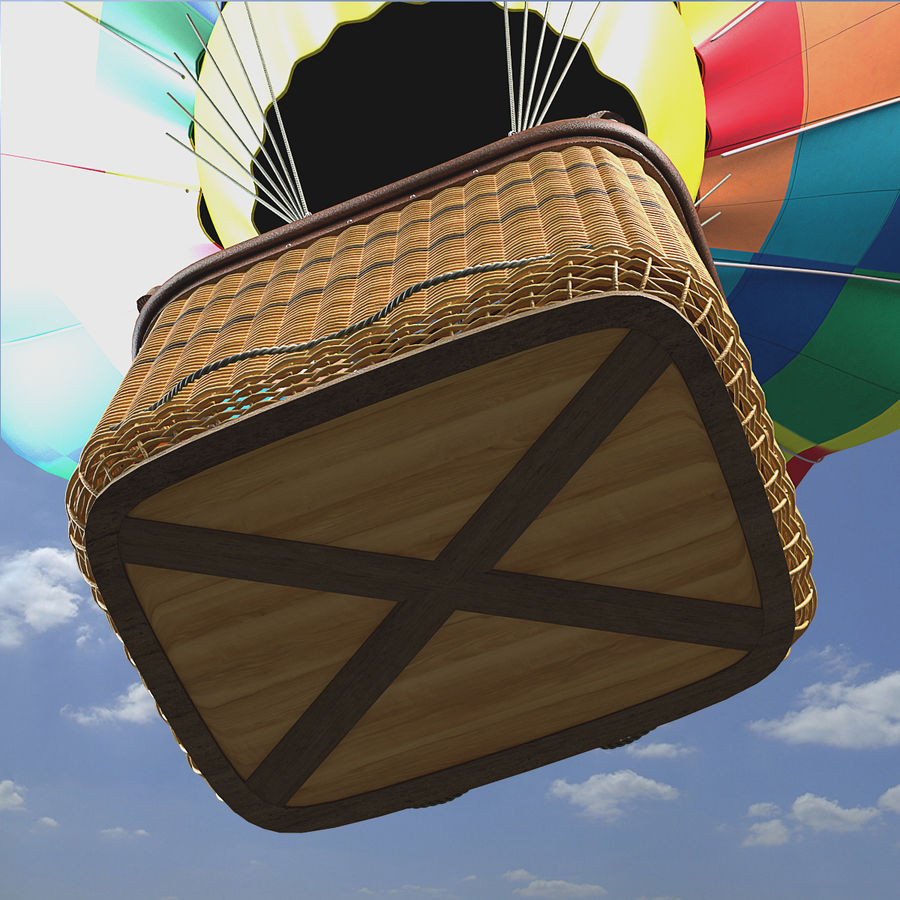 Luchtballon royalty-free 3d model - Preview no. 15