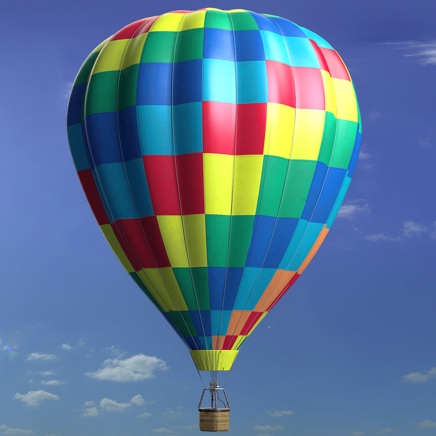 Luchtballon royalty-free 3d model - Preview no. 12