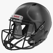 Capacete de futebol 3 Riddell Black 3d model