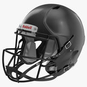 Fußballhelm 3 Riddell Black 3d model