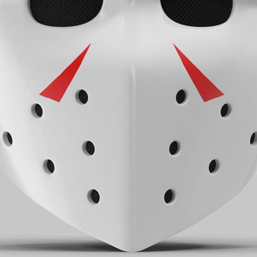 Masque de hockey 2 royalty-free 3d model - Preview no. 12