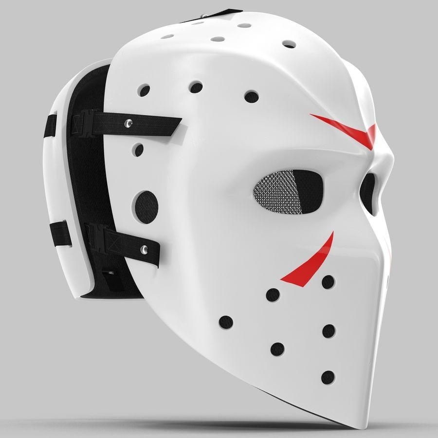 Masque de hockey 2 royalty-free 3d model - Preview no. 4
