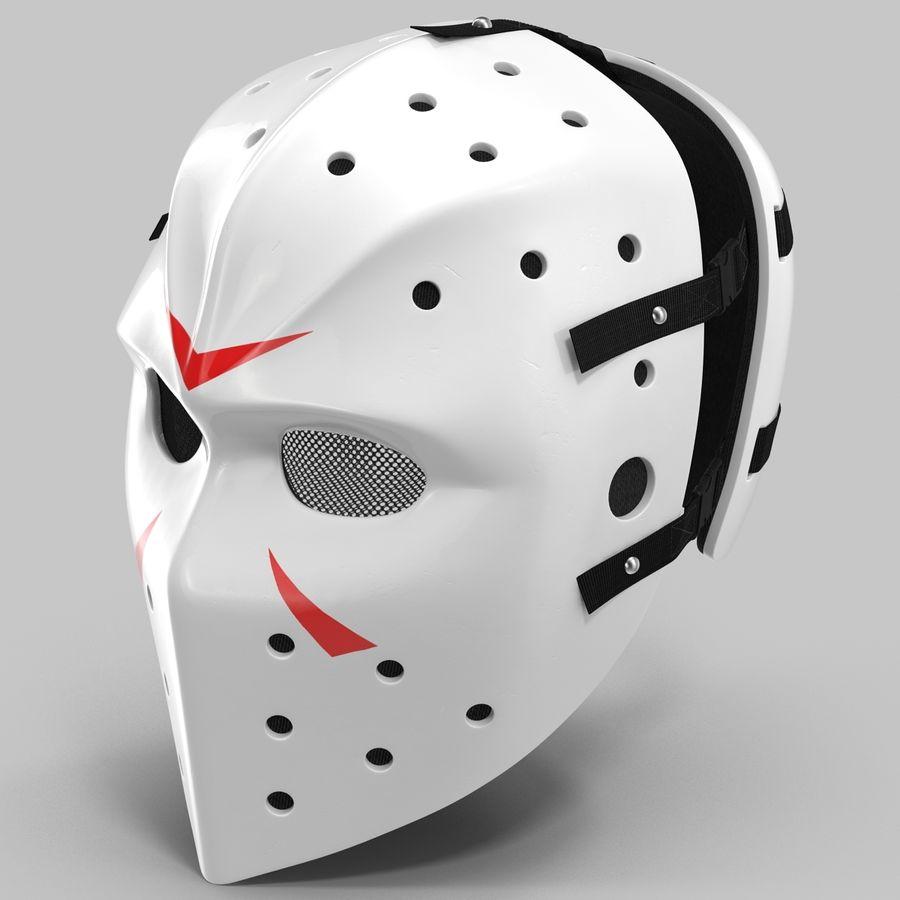 Masque de hockey 2 royalty-free 3d model - Preview no. 3