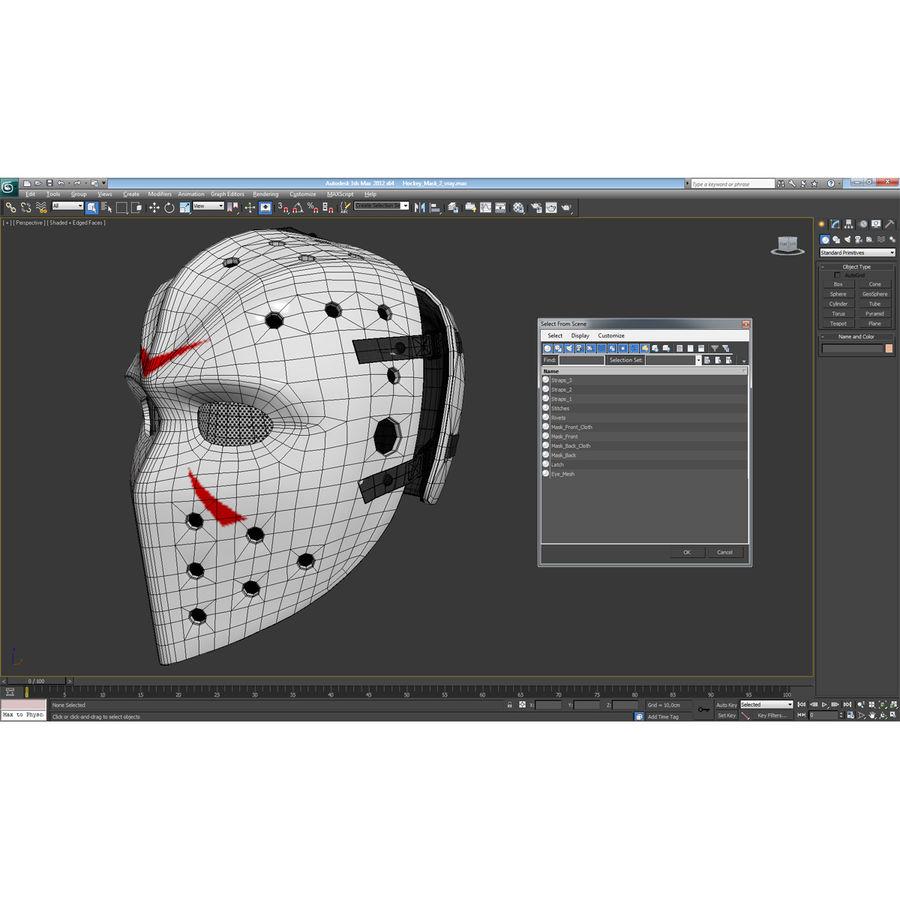Masque de hockey 2 royalty-free 3d model - Preview no. 22