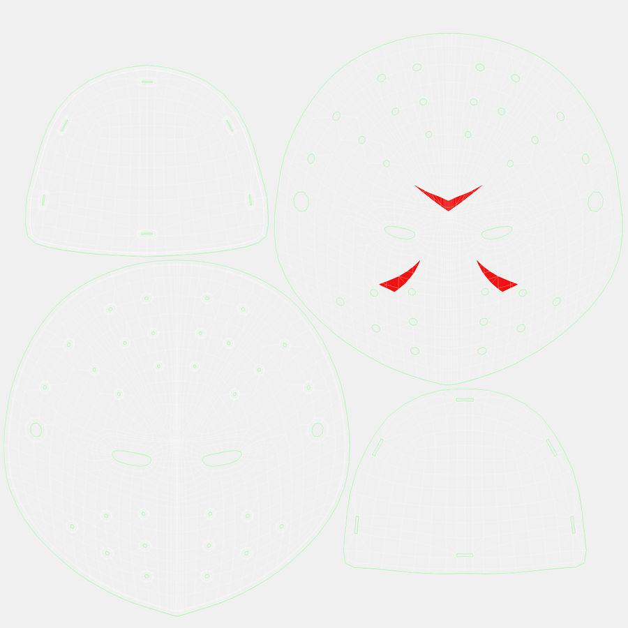 Masque de hockey 2 royalty-free 3d model - Preview no. 19