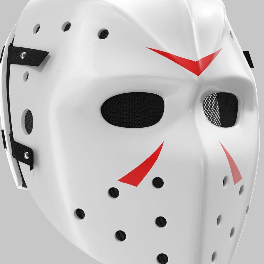 Masque de hockey 2 royalty-free 3d model - Preview no. 10