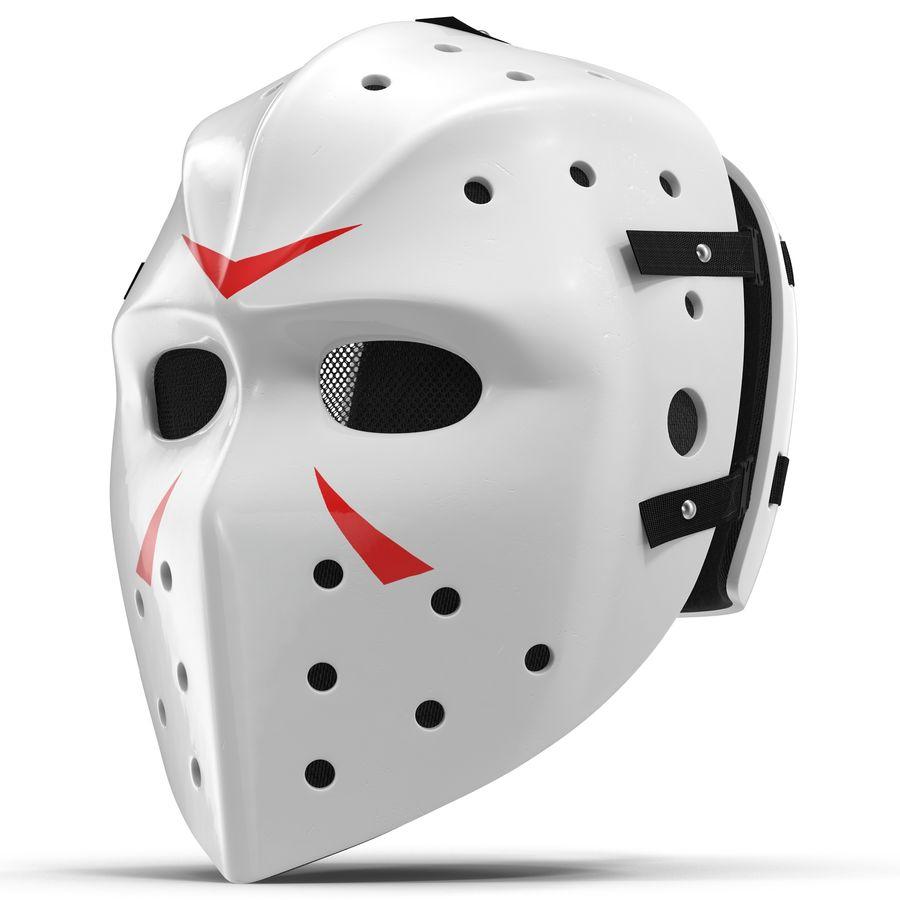 Masque de hockey 2 royalty-free 3d model - Preview no. 2
